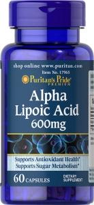 Puritan`s Pride Alpha Lipoic Acid 600 mg 60 caps