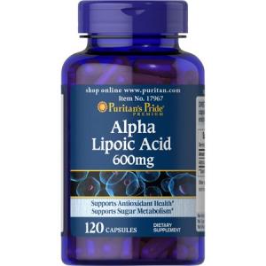 Puritan`s Pride Alpha Lipoic Acid 600 mg 120 caps