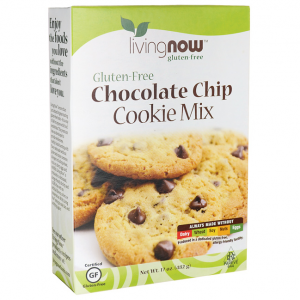 Now Chocolate Chip Cookie Mix Gluten Free-482 gr