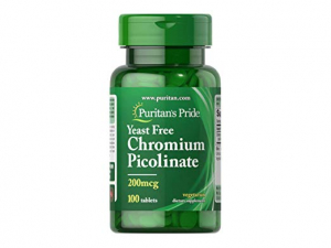 Puritan`s Pride Chromium Picolinate 200 mcg 100 tab