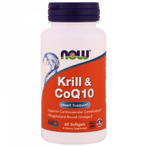Now Krill & CoQ10 60 softgels
