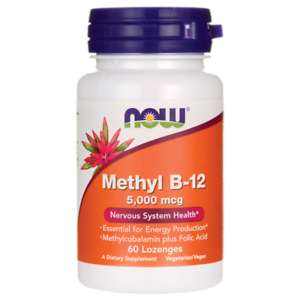 Now Methyl B-12 with Acid Folic 5000 mcg 60 lozenges