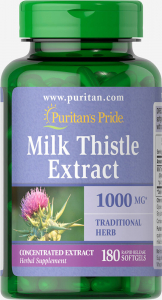 Puritan`s Pride Milk Thistle Extract 1000 mg 180 softgel