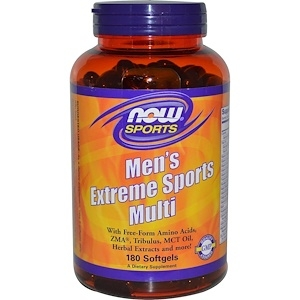 Now Men`s Extreme Sports Multi 180 softgels