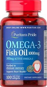 Puritan`s Pride Omega 3 Fish Oil 1000mg 100 softgels