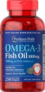 Puritan`s Pride Omega 3 Fish Oil 1000mg 250 softgel