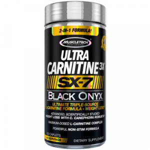 Muscletech Ultra Carnitine3X SX-7 Black Onyx 120 caps