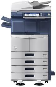 Toshiba e-Studio 307SE, monocrom, 30 ppm, copy-print-scan color, finisher intern, cu capsare, reconditionat