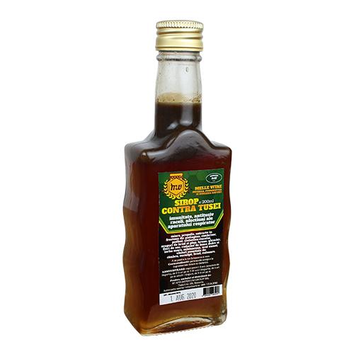 Sirop contre tusei ,produs natural din zona bcovinei pe baza de miere si prodse apicole.  recomandari(imunitate,antitusiv,raceli ale aparatului respirator.  Continut :miere,propolis,extras din fructoza de patlagina ,cimbrisor,potbal,ciubotica cucului ,muguri de brad si plop,hrean,ghimbir,flori de soc,radacini de lemn dulce si iarba mare ,ecinacee,scai vanat,uleiuri esentiale de cimbru,eucalipt ,brad cuisoare .