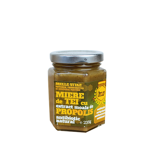 Miere de tei cu extract moale de propolis,Mellevitae,440g