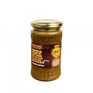 Amestec de miere,polen, propolis si laptisor de matca ,Mellevitae,440g,reteta Tatoiu