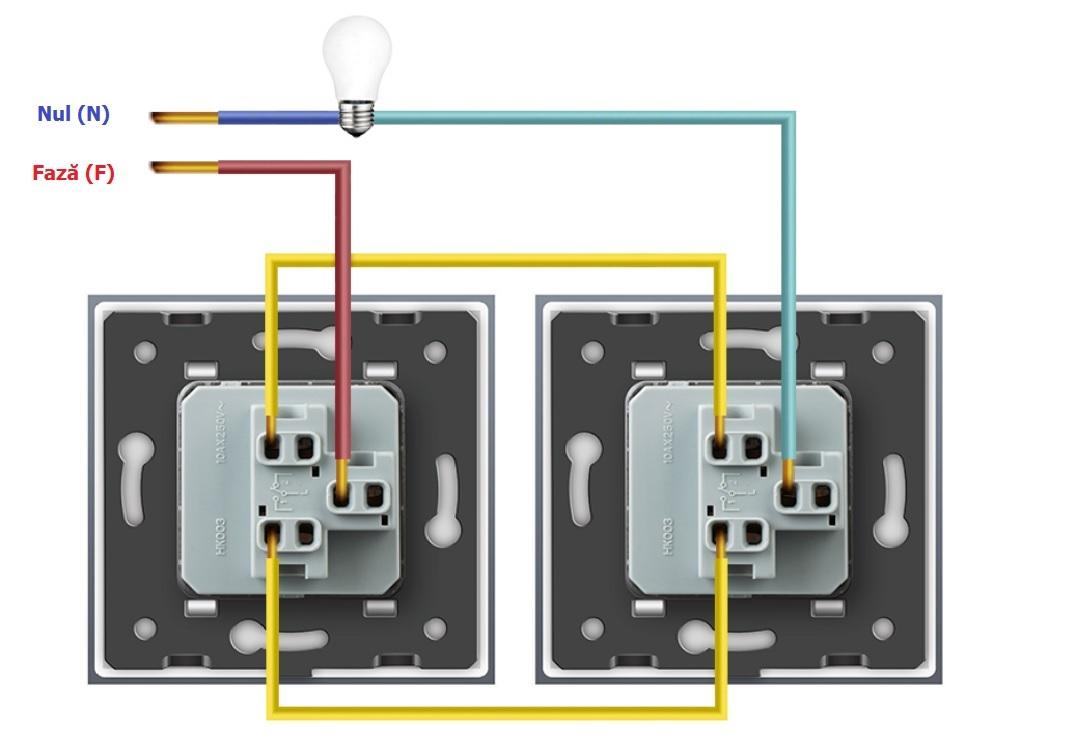Conectare întrerupătoarelor cap-scară mecanice