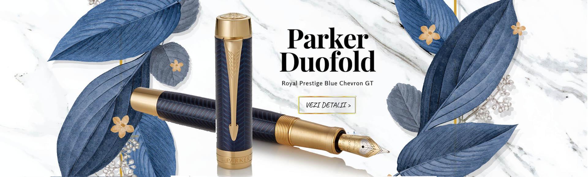 Parker Duofold Prestige Blue Chevron