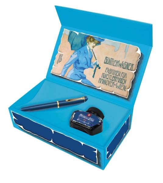 Stilou Pelikan Classic M120 Iconic Blue + Ink 4001 Royal blue 30ml 0