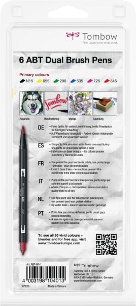Set 6 Culori Primare Dual Brush Pen Tombow 3