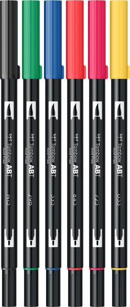 Set 6 Culori Primare Dual Brush Pen Tombow 1