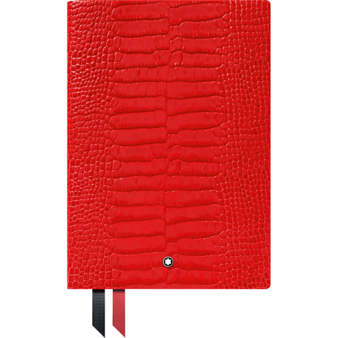 Montblanc Fine Stationery Notebook #146 Croco Print Poppy Red 0