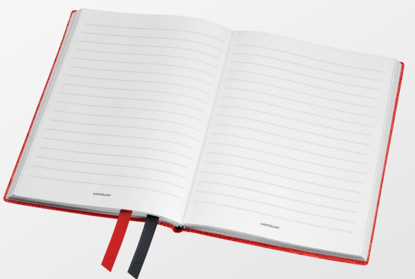 Montblanc Fine Stationery Notebook #146 Croco Print Poppy Red 1