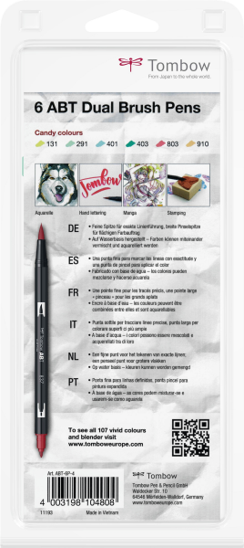Set 6 Culori Candy Dual Brush Pen Tombow 3