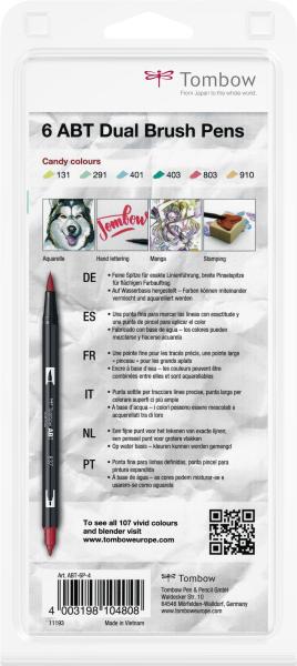 Set 6 Culori Pastel Dual Brush Pen Tombow 3