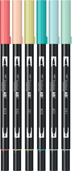 Set 6 Culori Candy Dual Brush Pen Tombow 1