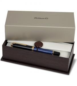 Set Stilou Souveran M800 Black-Blue + Calimara Edelstein Onix 50 ml Pelikan