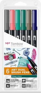 Set 6 Culori Vintage ABT Dual Brush Pen Tombow0