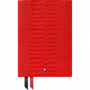 Montblanc Fine Stationery Notebook #146 Croco Print Poppy Red0
