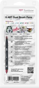 Set 6 Culori Candy Dual Brush Pen Tombow3