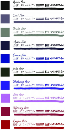 Set cadou 10 calimari Noir Collection Monteverde USA1