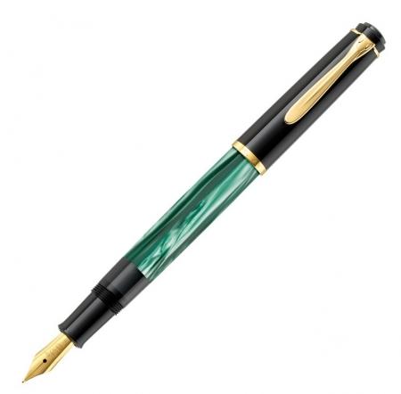 Set Stilou Classic M200 Verde Marmorat + Calimara 4001 Black 30 ml Pelikan1