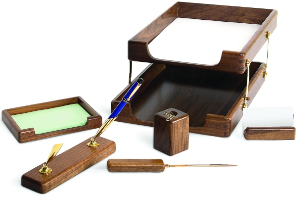 Set de birou din lemn - 6 elemente- Stejar Forpus