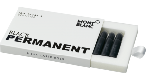 Cartuse Cerneala Montblanc Permanent BLACK set 8 buc