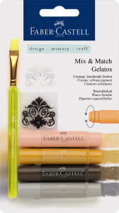 GELATOS SET 4 PASTELURI SOLUBILE NUANTE NEUTRE FABER-CASTELL