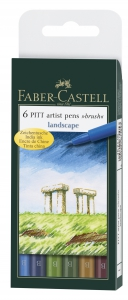 PITT ARTIST PEN SET 6 BUC LANDSCAPE FABER-CASTELL