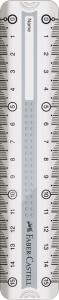 RIGLA 15CM GRIP GRI FABER-CASTELL