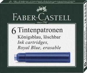 Cartuse Cerneala Mici Faber-Castell Albastru 6 buc/cutie