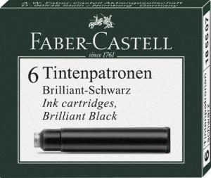 Cartuse Cerneala Mici Faber-Castell Negru 6 buc/cutie