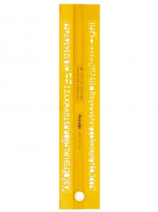 SABLON LITERE+CIFRE 2.5MM PROFIL Z ROTRING