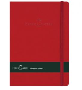 Agenda A5 80 File Imitatie Piele Rosu Faber-Castell