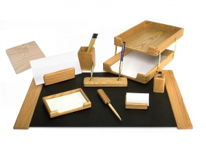 Set de birou din lemn -10 elemente- Fag  Forpus