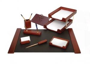 Set de birou din lemn - 8 elemente  Forpus