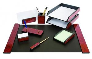 Set de birou din lemn - 8 elemente - Mahon Forpus