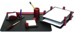 Set de birou din lemn - 6 elemente - Mahon Forpus