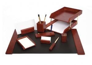 Set de birou din lemn - 9 elemente Bordeaux Forpus