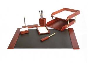 Set de birou din lemn - 7 elemente- Bordeaux Forpus