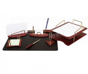 Set de birou din lemn - 7 elemente - Red Whine Forpus