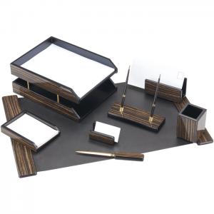 Set de birou din lemn - 8 elemente - Abanos Forpus