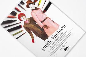 Carte de colorat Artist - 1960s Fashion