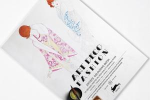 Carte de colorat Artist - Art Deco Fashion Pepin